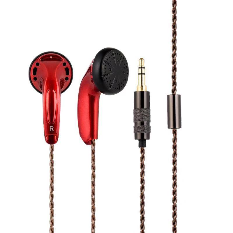 100% Newest FENGRU DIY EMX500 Bro In-ear Flat Head Plug DIY Earphone HiFi Bass Earbuds DJ Earbuds Heavy Bass Sound Quality box clutch purse