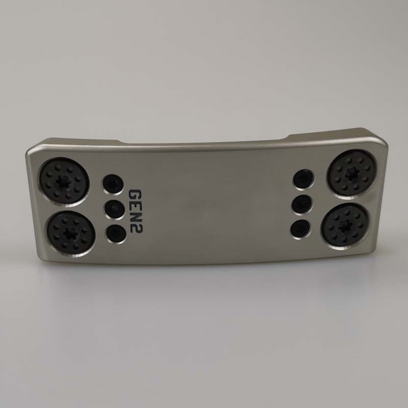 New Silver CR Gen2 Golf Putter Black Steel Shaft With Rod Cover Free Shipping