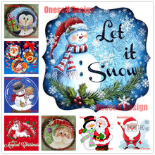 2019top popular rhinestone pictures Santa Claus 5d Diamond Mosaic Sale 5d Diamond Embroidery Full christmas decorations for home