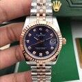 Luxus Marke Edelstahl Sapphire Uhr Frauen Dame Automatische Mechanische Diamant Silber Rose Gold Schwarz Begrenzte Datejust 31mm