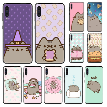 Cute Cartoon Pushee Phone case For Samsung Galaxy A 3 5 8 9 10 20 30 40 50 70 E S Plus 2016 2017 2018 2019 black luxury shell image