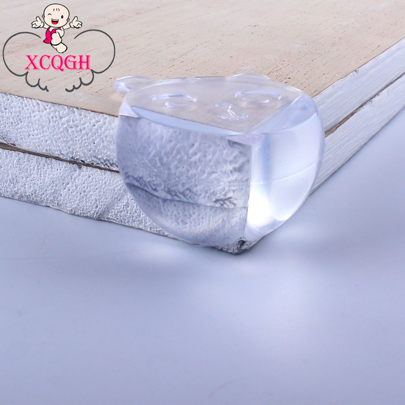 XCQGH 8PCS Baby Table Corner Protective Cover Spherical Transparent Anti-collision Protection Angle Round Safety Angle