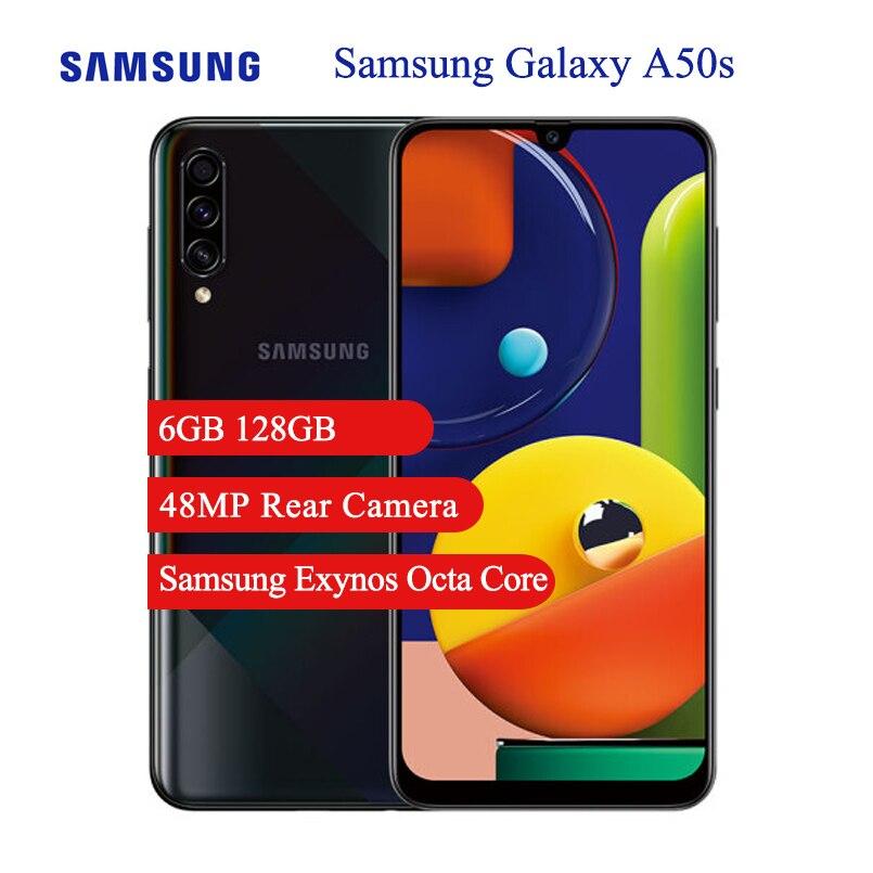 Смартфон Samsung Galaxy A50s мобильный телефон 6,4 дюйма, тройная камера Samsung Exynos, 4000 мАч, 6 ГБ ОЗУ, 128 Гб ПЗУ, NFC