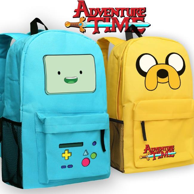 Cartoon Adventure Time Backpack Bag Students Teenager Bag School Bags Book Boys Girls Travel Laptop Bag Gift