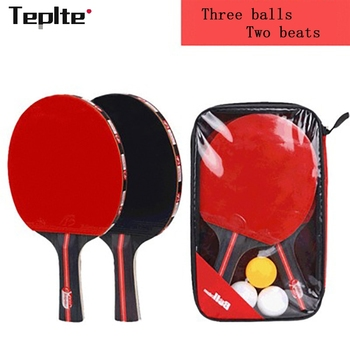 2pcs/lot Table Tennis Bat Racket Double Face Pimples In Long Short Handle Ping Pong Paddle Racket Set 2pcs ping pong racket table tennis blade long short handle pingpong bat set with 3 balls double face pimples in rubber blades