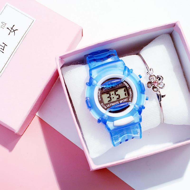 Zegarek Dzieciecy Plastic Strap Watches Children LED Display Sport Girls Boys Watch School Kids Clock Montre Enfant Gift
