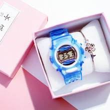 zegarek dzieciecy Plastic Strap Watches Children LED Display Sport Girls