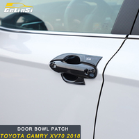 GELINSI Car Auto Door bowl Patch trim StickerAccessories For Toyota Camry XV70 2018