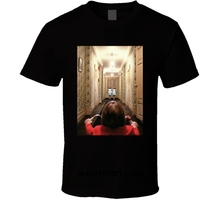 Men t shirt Fashion The Shining Horror Kubrick King Nicholson Classic Movie Fan  t-shirt novelty tshirt t nicholson violin sonata