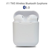 i11 tws Wireless Earphone Bluetooth 5.0 Stereo 3D Headphone i7s TWS Mini Earbuds Headset for iPhone Samsung Xiaomi Huawei LG(China)