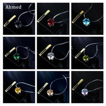 Ahmed Black Red Blue AB Color Crystal Pendant Transparent Line Choker Necklace for Women Clavicle Invisible Chain Collar Bijoux(China)