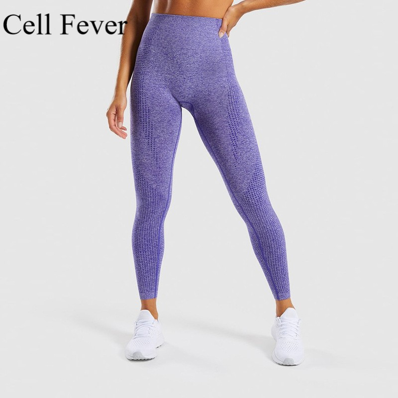 Seamless Yoga Pants Gym Leggings Sport Women Fitness High Waist Sports Leggings Tummy Control Shark Compression Tights Pants image