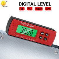 Digital Level Box Electronic Angle Gauge Protractor Angle Finder Bevel Gauge With Magnetic Base|Protractors| |  -
