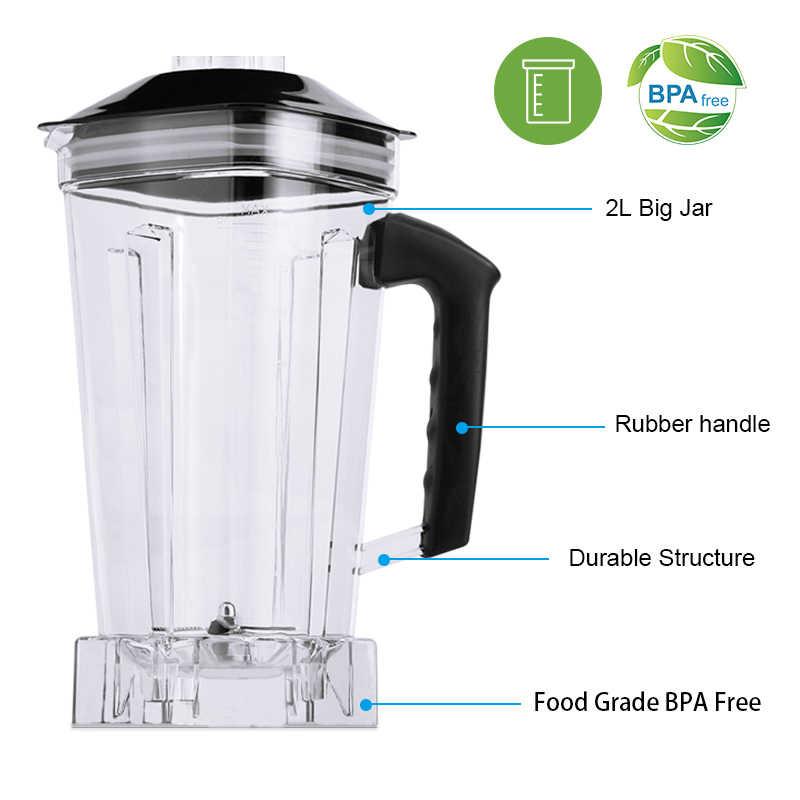 Digitale 3HP BPA FREI 2L Automatische Touchpad Professionelle Mixer Mixer Entsafter High Power Küchenmaschine Eis Smoothies Obst