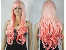 RH0953 Fastshun New Fashion Panjang Pink Mix Light Blonde Rambut Wanita Ladys Wig A0312)(China)
