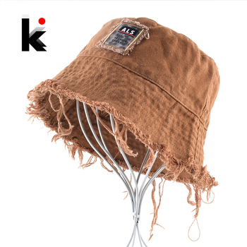 Fashion Bucket Hat For Women Solid Color Floppy Cap With Tassel Breathable Sun Hat Men Outdoor Casual Anti-UV Visor Beach Hats 1
