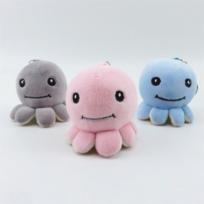 Cute Octopus Plush  Small Pendant Kids Toys Backpack Hangings Stuffed Animals Christmas Birthday Gifts