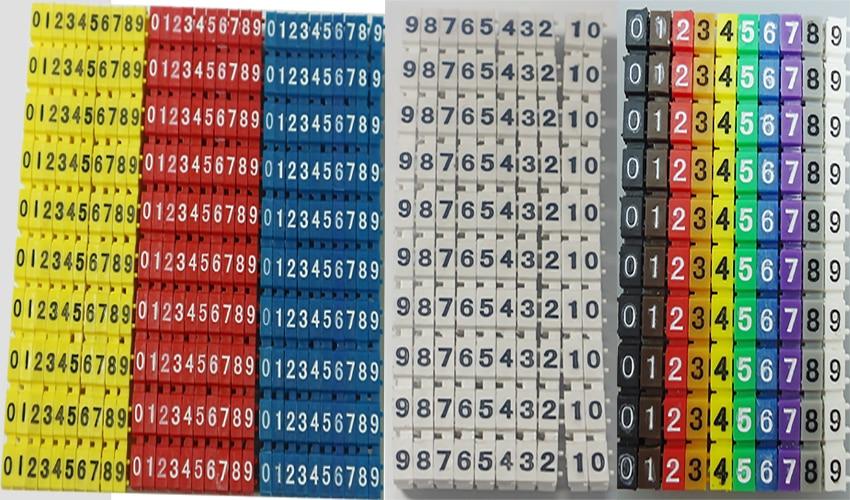 卡式号码管5色集合
