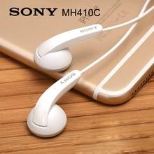 Original Sony MH410C In-Ear Earphones Super Bass Earphones with Microphone for XPERIA L36H M4 M5 L1 XZS XA XA1 XA2 Z1 Z2 Z3