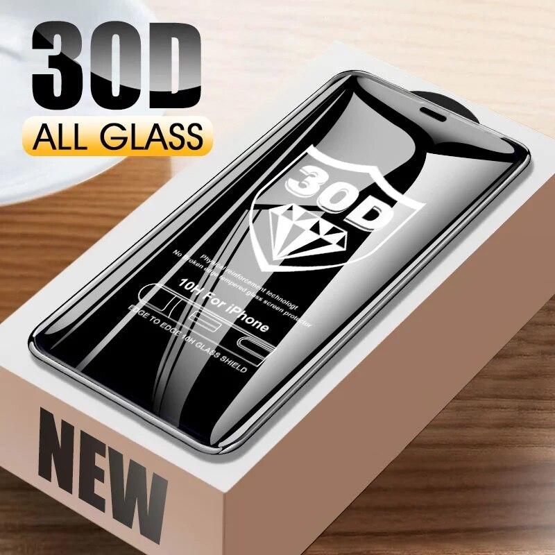 30d curvado vidro protetor para iphone 11 12 pro xs max x xr protetor de tela para iphone 6s 7 8 plus se 2020 filme temperado