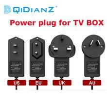 Genuíno 5 v/2a transformador cabo de tomada de alimentação para tv caixa media player x96 mini h96 max hk1 x88 a95x f3 ar