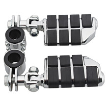 Motorcycle Footrest Aluminum Foot Pegs For Harley TRIUMPH Honda GoldWing GL1500 GL1100 GL1200 25-35mm Tube Moto Highway FootPegs