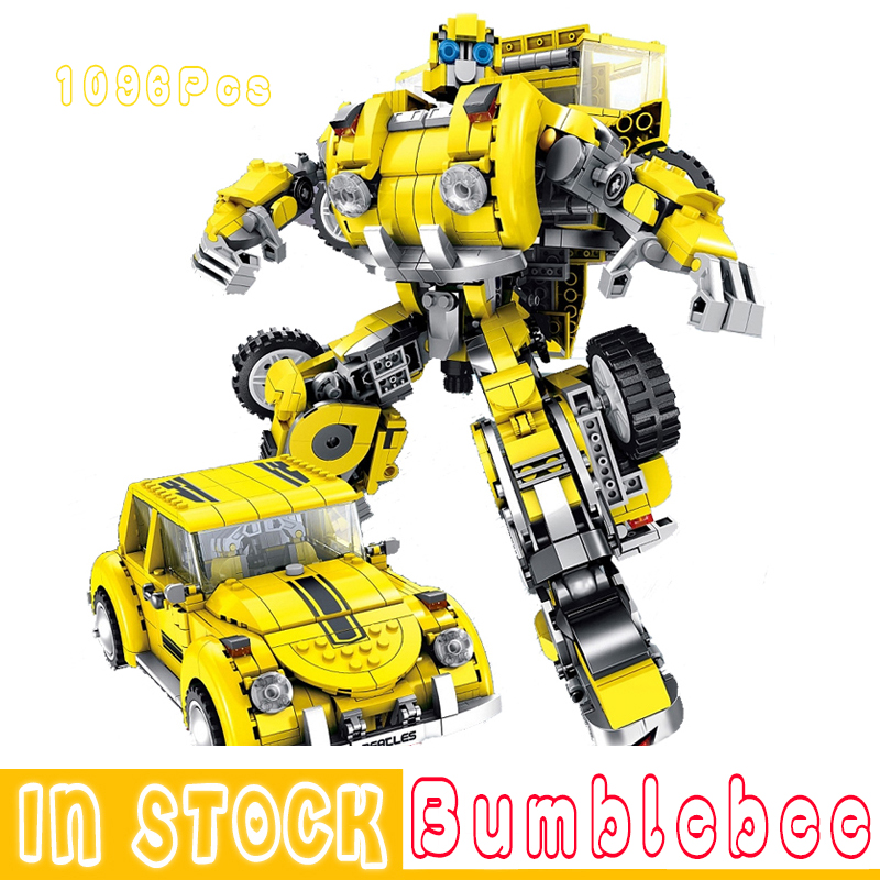 Transformers Robot Bumblebee Car Building Block Brick Toy Children Boy Gift