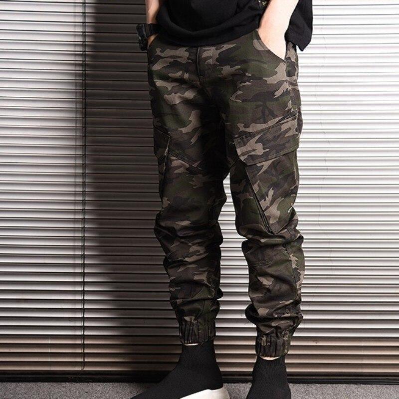 2020 New Fashion Cotton Mens Harem Trousers Japan Style Camo Pencil Pants Casual Pocket Jogger Pants Male Plus Size M-2XL