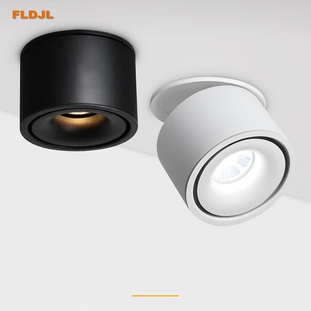 Luces empotrables de techo regulables, lámpara nórdica regulable de 10W, 12W, 15W, foco para punto de luz interior