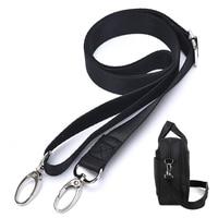 1 Uds negro correa de hombro ajustable de Nylon 120x2,5 cm correa de bolso de hombro portátil bandolera, correa de la cámara