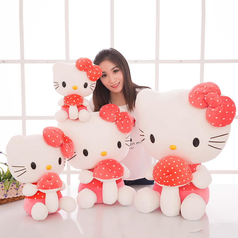 New Style Cute Hello Kitty Doll Pillow Hello Kitty Plush Toys KT Cat Large Size Doll
