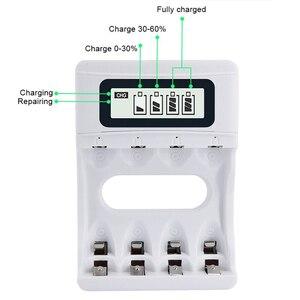Image 3 - Интеллектуальное Быстрое Зарядное устройство USB 1,2 В батарея умная зарядка с ЖК экраном для батарей 2A 3A AA AAA ni mh nimh ni mh