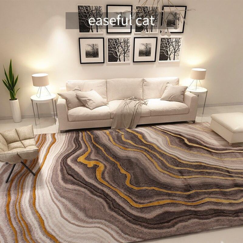 200*290cm European And American Modern Golden Luxury Wind Bedroom Bedside Blanket Restaurant Living Room Sofa Large Carpet