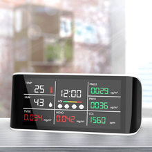 7 in1 CO2 Meter Digital Temperature Humidity Sensor Tester Air Quality Monitor Carbon Dioxide TVOC Formaldehyde HCHO Detector