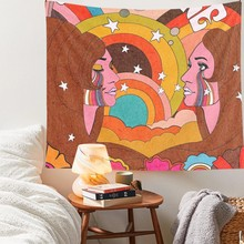 Tapestry Hanging Rainbow Decor for Girls Dorm Roon Decoration INS Trippy Tapestry Psychedelic Wall Prints tapestry psychedelic