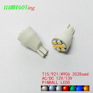 Image 2 - 50pcs T15 W16W 921 #906 Base 8x SMD3528 Various Colour Available Non Polarity AC DC 12V 13V  Pinball Game Machine Led Lamps