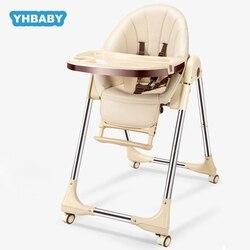 Silla alta, silla de comedor para niños y niñas, silla de comedor para recién nacidos, silla de bebé plegable de doble uso