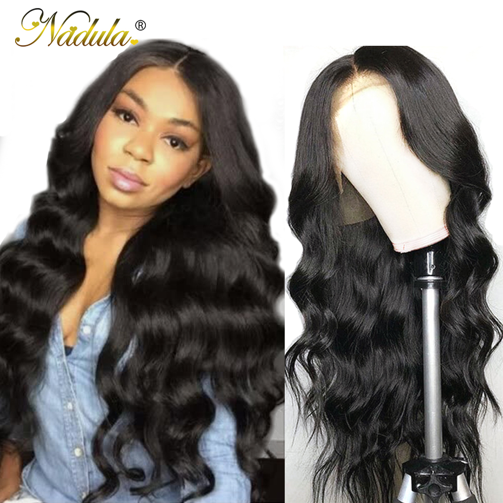 Nadula Hair Body Wave Wig 360 Lace Front Wig 150% /180% Density Brazilian Remy Hair Lace Front Human Hair Wigs With Baby Hair