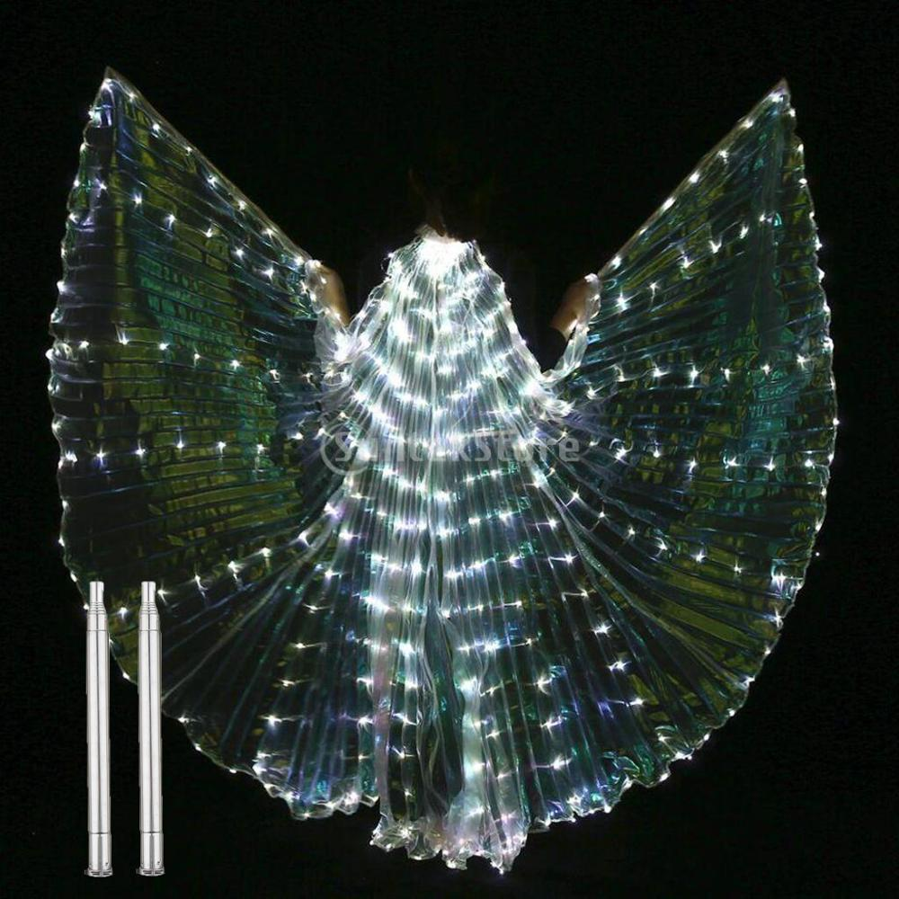 Chil LED Isis Wings Belly Dance Luminous Performance Dancing Costumes Egypt Wings Girl Stage Show Props LED Wings