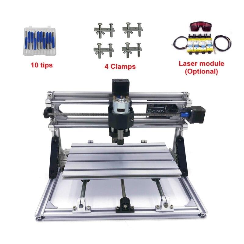 GRBL sterowanie mini CNC router 3018 pro z głowica laserowa pcb grawer mill