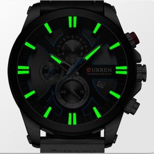 Image 2 - カレンビッグダイヤル男性の 2019 クロノグラフスポーツ男性腕時計デザインとクリエイティブ日付男性腕時計メンズステンレス鋼