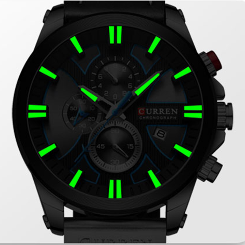 CURREN Big Dial Men s Watch 2019 Chronograph Sport Men Watches Design Creative With Dates Male CURREN Big Dial Men's Watch Chronograph Sport Men Watches Design Creative With Dates Male Wristwatch Mens Stainless Steel
