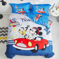 Original Disney Children's Bedding 4 Piece Set Pure Cotton Quilt Cover Cotton Sheet 1.2m Cartoon Quilt Cover Baby Bedding Set