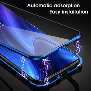 Image 2 - Double sided Magnetic 360 Full Protect Case for Xiaomi Pocophone F1 Tempered Glass Back +Front Cover Mi POCO F1 Transparent Case