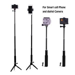 Image 4 - Stativ Bluetooth Fernbedienung Selbstauslöser Clip Halter Selfie Dslr Stativ Stick Mount Für Gopro Sport Kamera Telefon Stehen halter