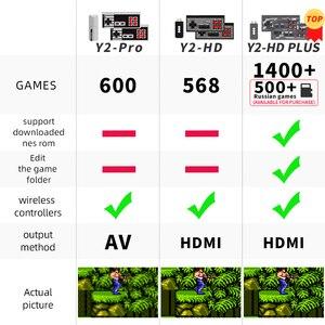 Image 5 - Daten Frosch Video Spiele Konsole Wireless USB Handheld Retro Spiel Gebaut In 1400 + NES 8 Bit Spiel Mini Konsole bewegen Duble Gamepad