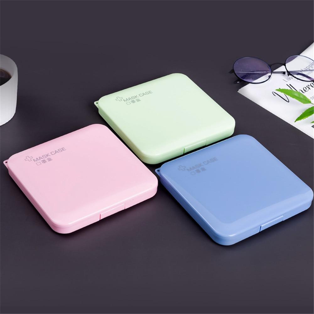 Portable Dust-proof Moisture Proof Face cover Storage Box Case