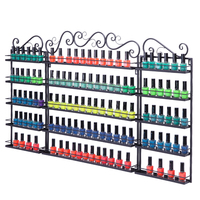 5 Tier Metal Nail Polish Display Organizer Wall Rack Cosmetics Lipstick Holder