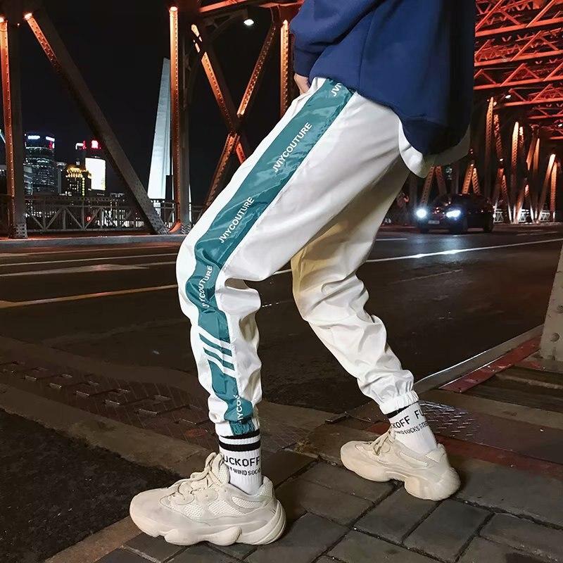 Autumn New Style Youth Fashion Man Slim Fit Skinny Pants Harem Pants Thin Casual Pants Men Students Three Bars Athletic Pants