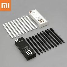 10 pçs xiaomi kaco gel caneta 0.5mm cor preta recargas de tinta plástico abs caneta escrever comprimento 400mm suavemente para estudo de escritório